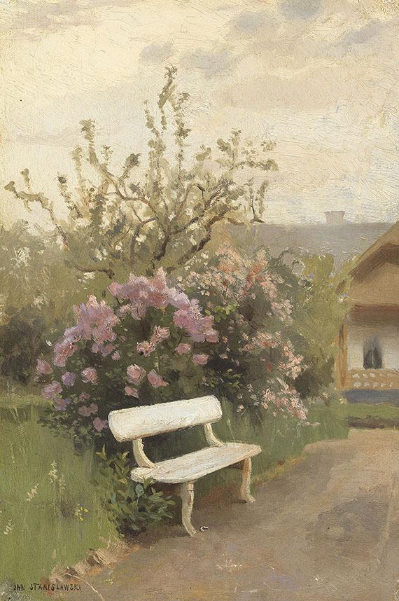 Jan Stanislawski - Die weiße Gartenbank