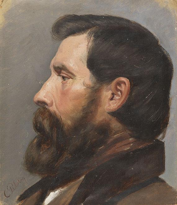 Karl Theodor von Piloty - Männerkopf im Profil