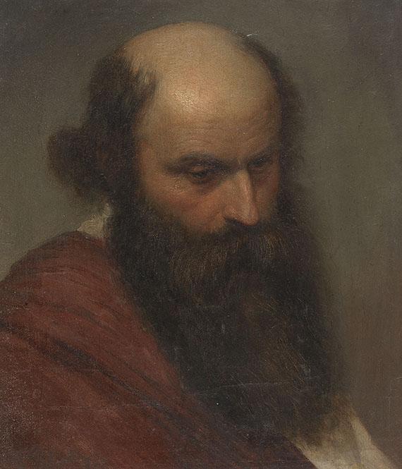Karl Theodor von Piloty - Studie eines bärtigen Mannes