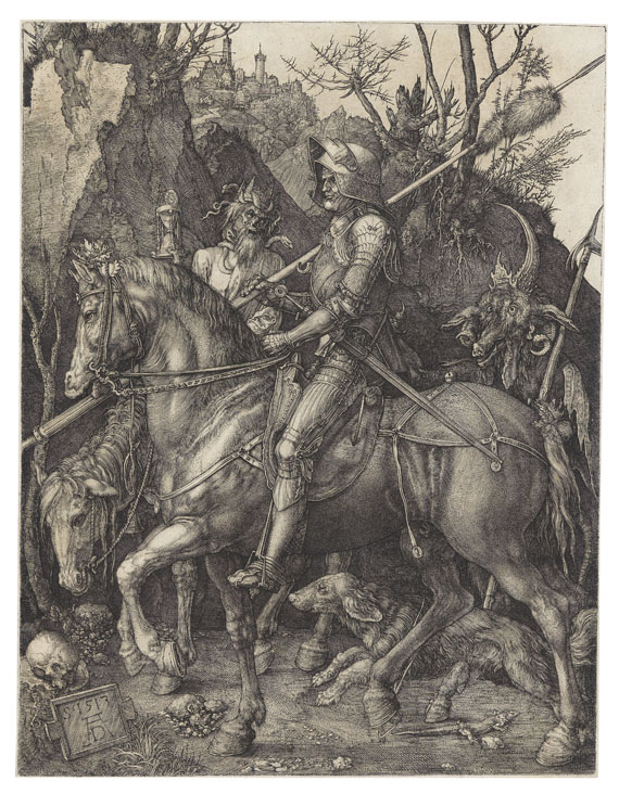 Albrecht Dürer - Der Reiter (Ritter, Tod und Teufel)