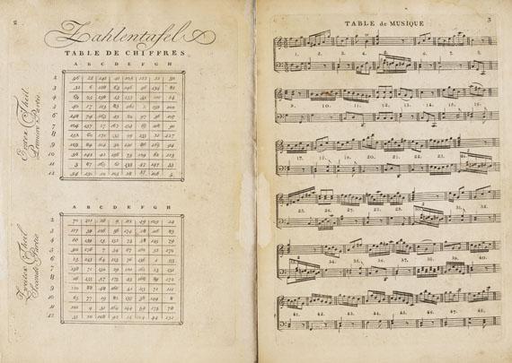 Wolfgang Amadeus Mozart - Anleitung ... zu componiren. Musikwürfelspiel. 1793 - Weitere Abbildung
