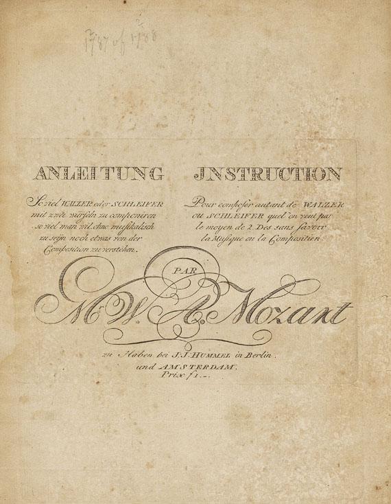 Wolfgang Amadeus Mozart - Anleitung ... zu componiren. Musikwürfelspiel. 1793