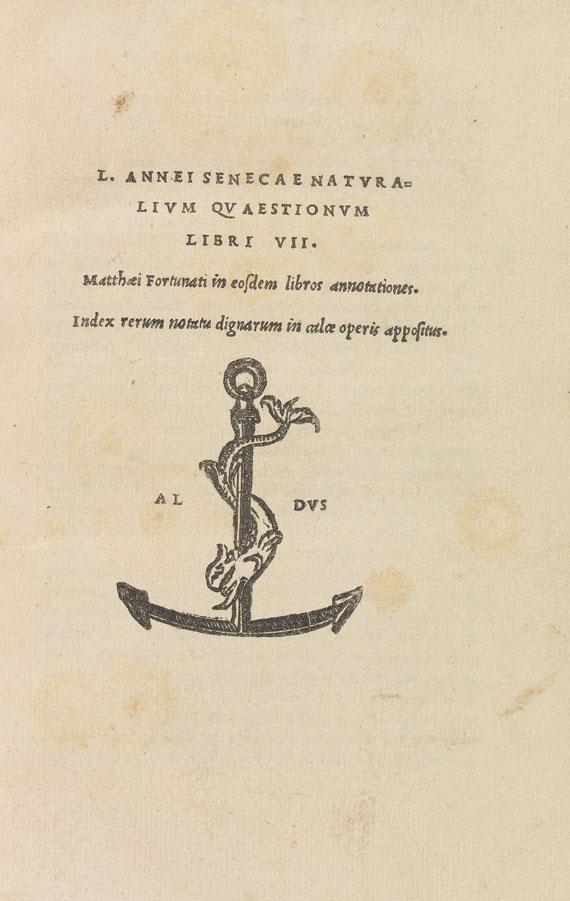 Lucius Annaeus Seneca - Naturalium quaestionum libri VII. 1522