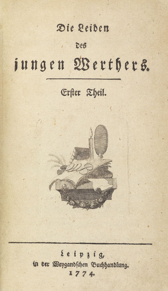 Johann Wolfgang von Goethe - Die Leiden des jungen Werthers. 1774.