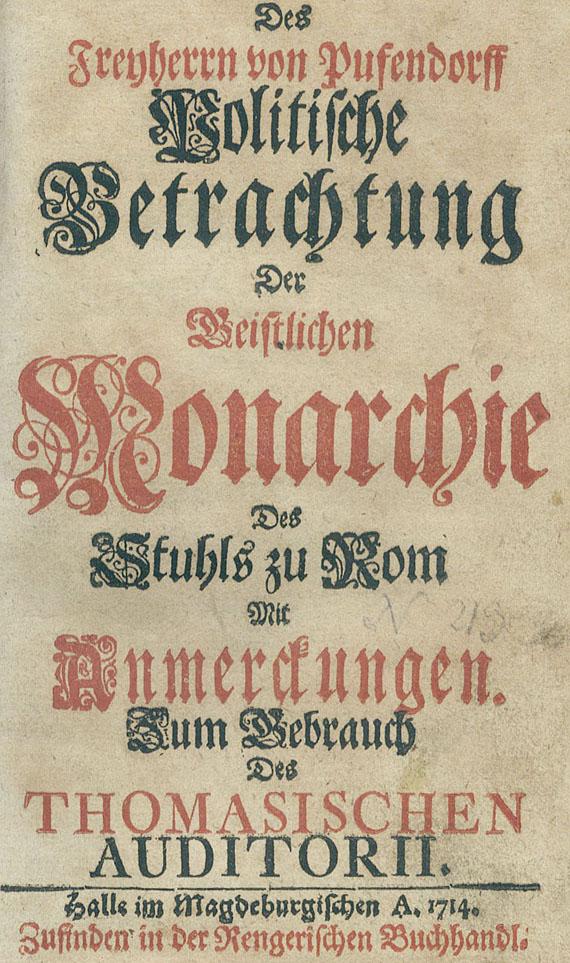 Samuel von Pufendorf - Politische Betrachtung. 1714