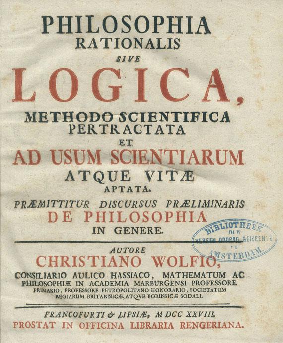 Christian von Wolff - 9 Werke. 11 Bde. 1728-47.