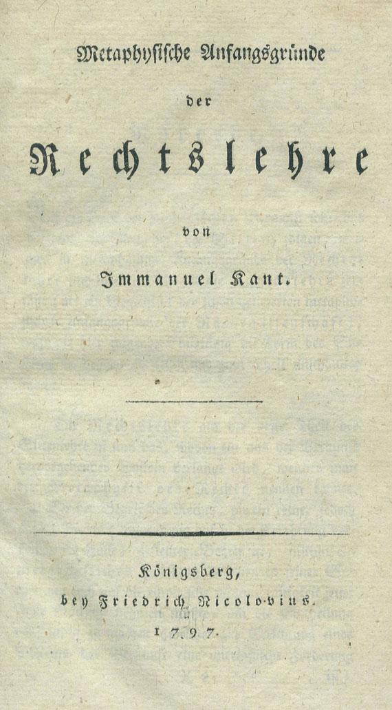 Immanuel Kant - 7 Werke. 1786-1800