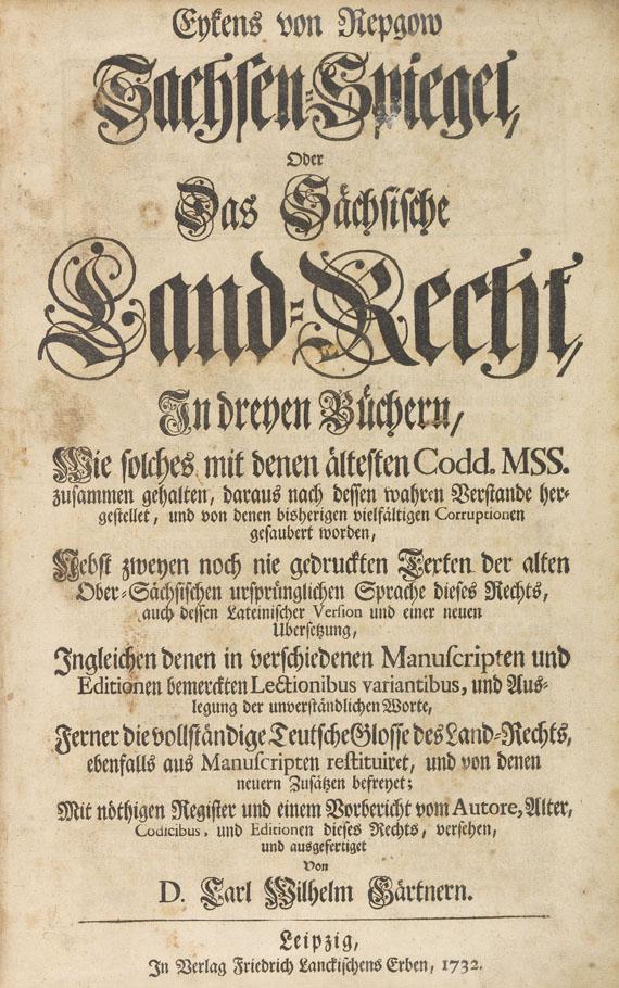 Eike von Repgow - Sachsenspiegel. 1732
