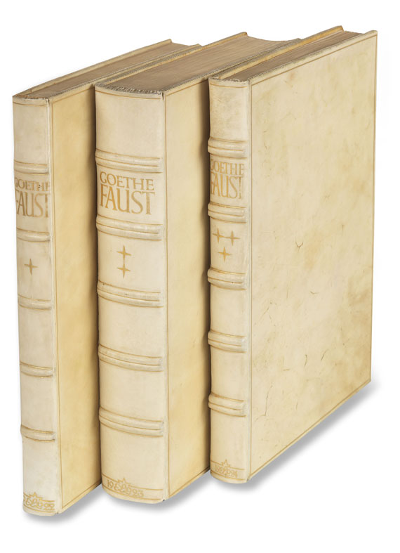 Johann Wolfgang von Goethe - Faust. 1922-24. 3 Bde.