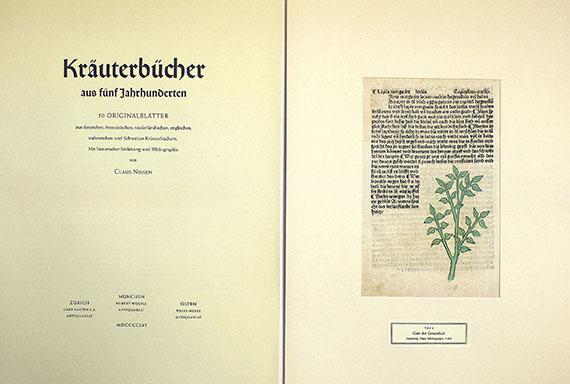 Claus Nissen - Kräuterbücher aus fünf Jahrhunderten. 1956.