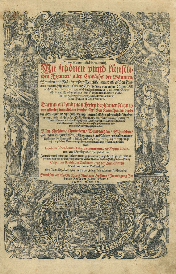 Jacobus Theodorus Tabernaemontanus - Neuw vollkommentlich Kreuterbuch. 1613. 2 Bde.