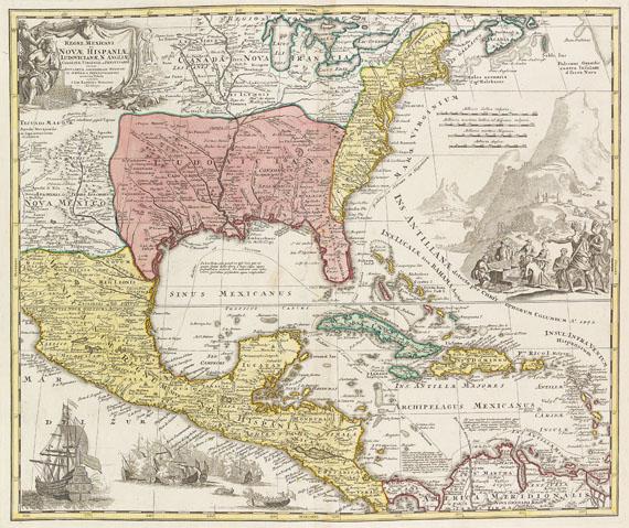 Johann Baptist Homann - Grosser Atlas uber die gantze Welt. 1725. 2 Bde. -