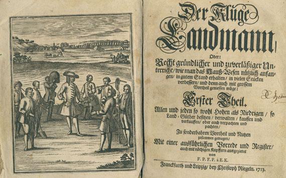 Haus- und Landwirtschaft - Florinus, F. Ph., Der kluge Landmann. 1713.
