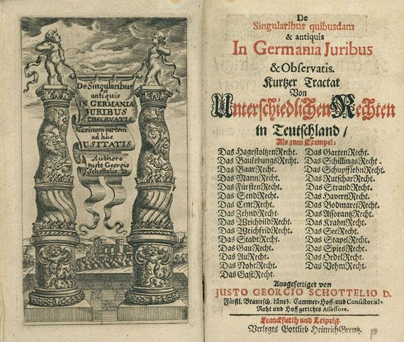 Justus Georg Schottelius - De singularibus quibusdam & antiquis. 1686 + 2 Beigaben