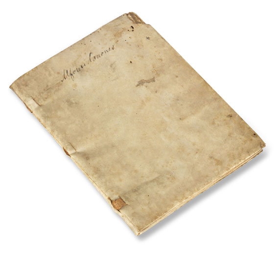 Manuskript - Canones tabularum Alfonsi. Um 1550 -