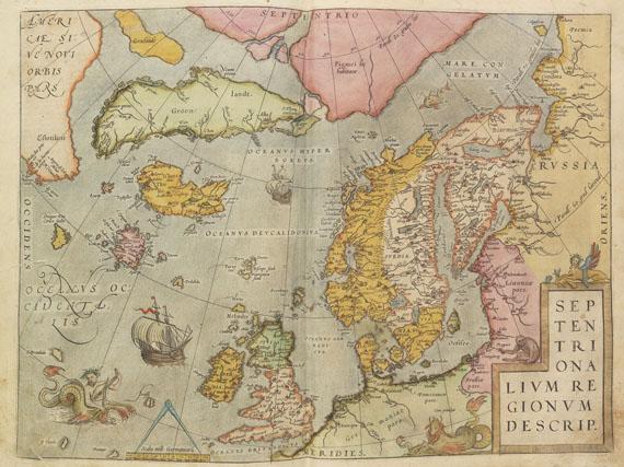 Abraham Ortelius - Atlas: Theatrum oder Schawbuech. Dt. Ausgabe. 1580/84