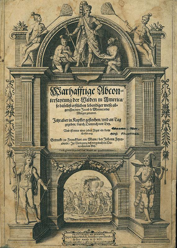 Theodor de Bry - Der ander Theyl (&) Dritte Buch Americae (Florida, Brasilien). 2 Tle. in 1 Bd. 1591-93.