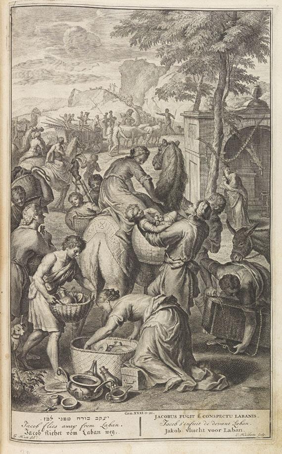 Biblia latina - Biblia sacra vulgatae. 1740. 2 Bde.