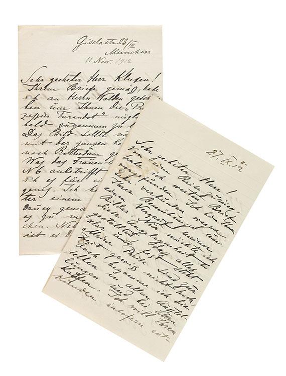 Alexej von Jawlensky - 2 eigh. Briefe m. U. 1912.