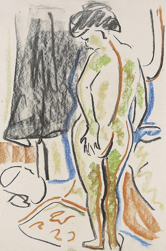 Ernst Ludwig Kirchner - Stehender weiblicher Akt