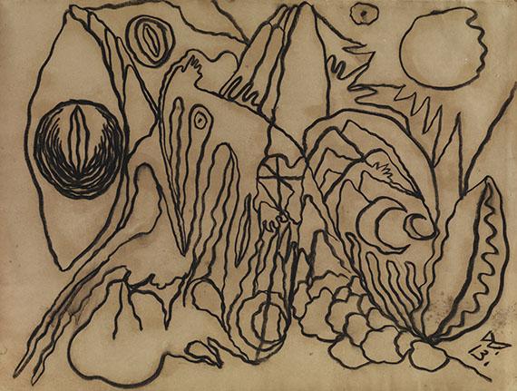 Wilhelm Morgner - Astrale Landschaft IV