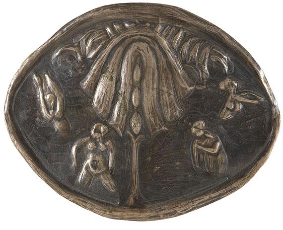 Ernst Ludwig Kirchner - Badende unter Baum. Ovale Brosche
