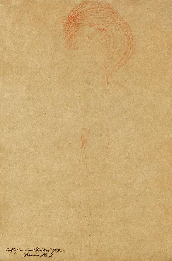Gustav Klimt - Stehender weiblicher Akt