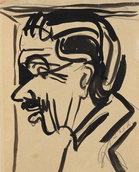 Ernst Ludwig Kirchner - Männerporträt