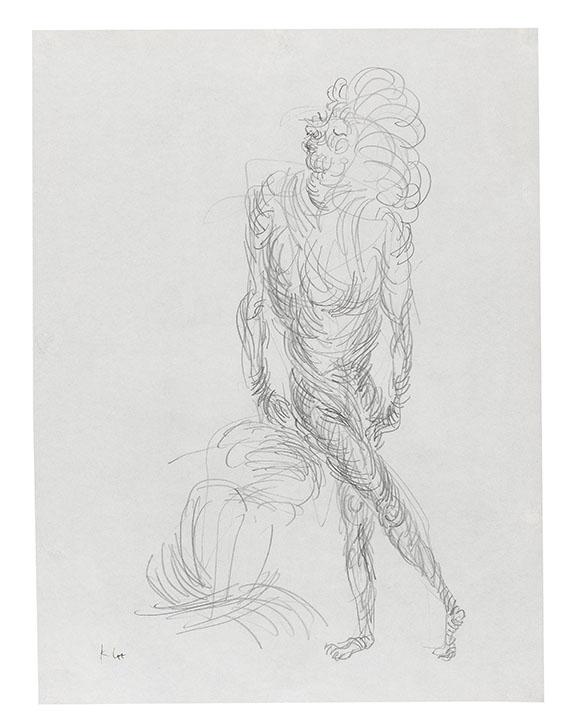Paul Klee - Akt in geschraubter Bewegung