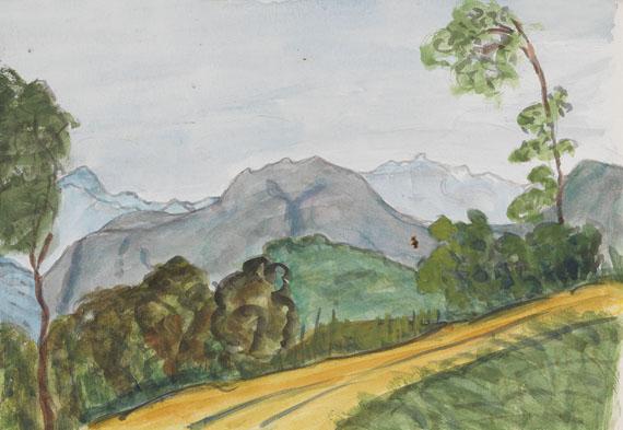 Hermann Hesse - Landschaft bei Montagnola