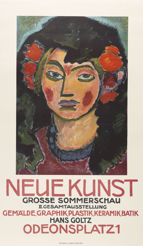Alexej von Jawlensky - Plakat für die große Sommerschau der Galerie Neue Kunst, München