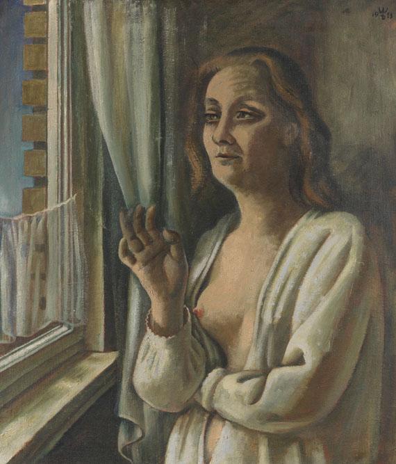August Wilhelm Dreßler - Frau am Morgen (Am Fenster)