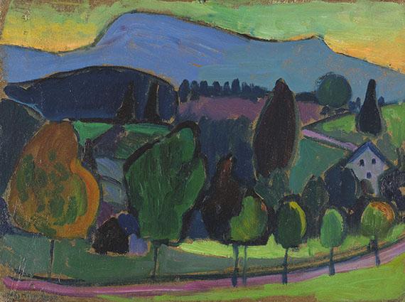 Gabriele Münter - Der blaue Berg