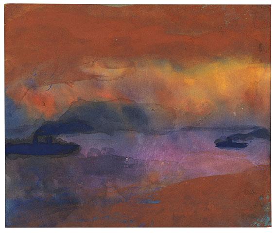 Emil Nolde - Dampfer auf See