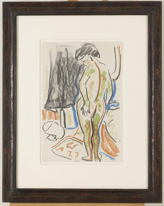 Ernst Ludwig Kirchner - Stehender weiblicher Akt - Frame image