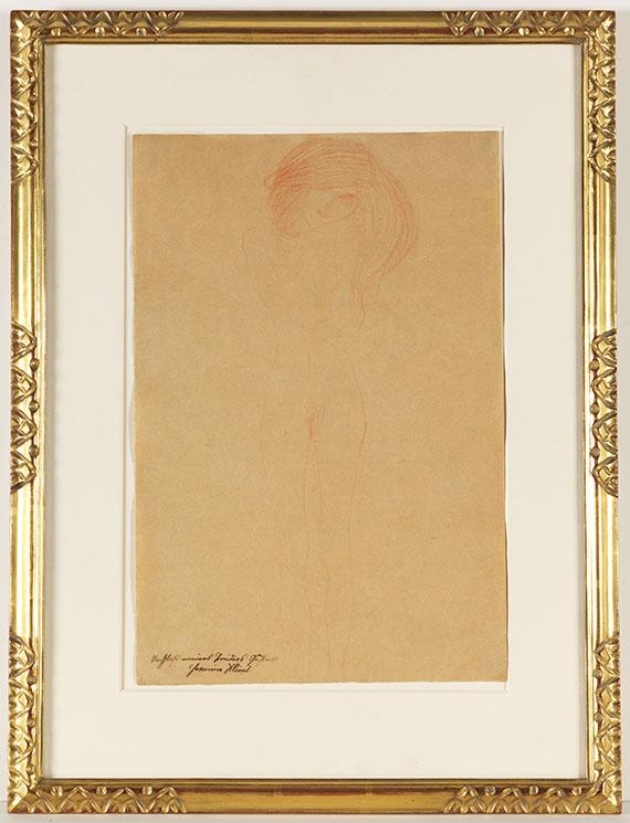Gustav Klimt - Stehender weiblicher Akt - Frame image