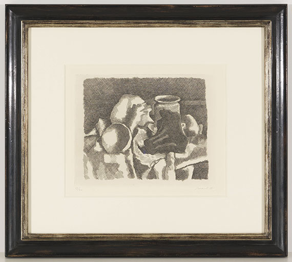 Giorgio Morandi - Natura morta con il panneggio - Rahmenbild