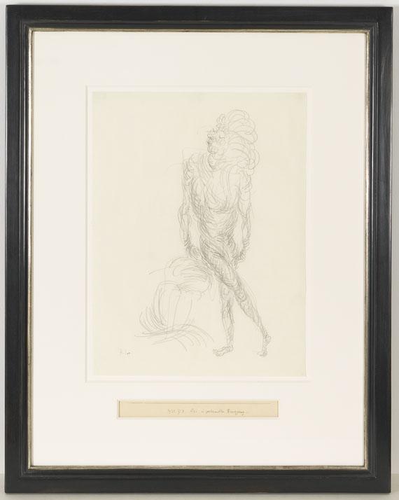 Paul Klee - Akt in geschraubter Bewegung - Rahmenbild