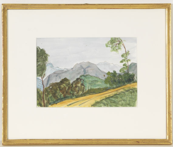 Hermann Hesse - Landschaft bei Montagnola - Rahmenbild