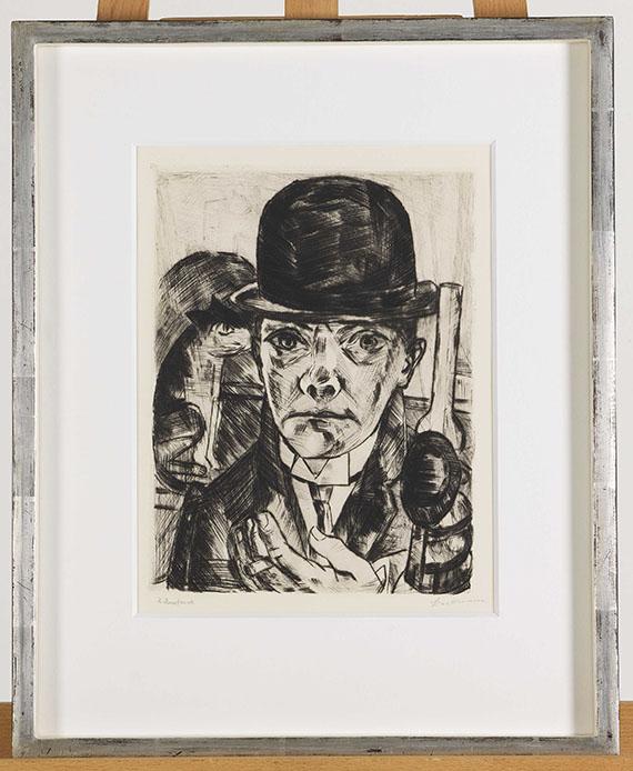 Max Beckmann - Selbstbildnis mit steifem Hut - Frame image