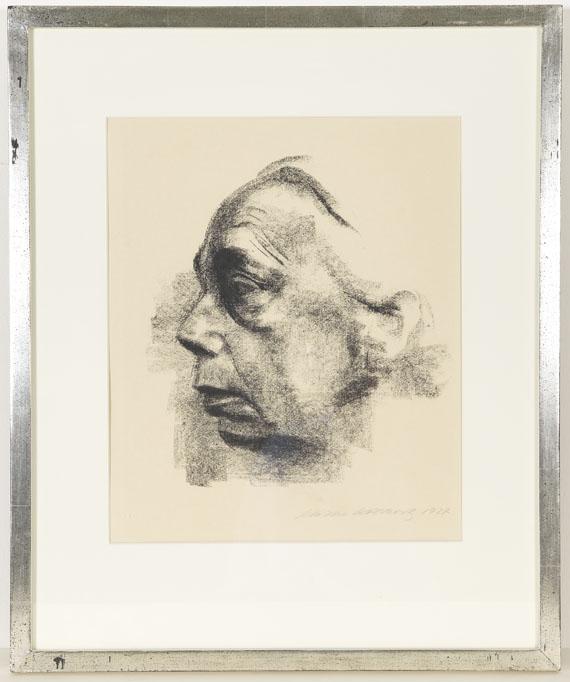 Käthe Kollwitz - Selbstbildnis im Profil - Frame image