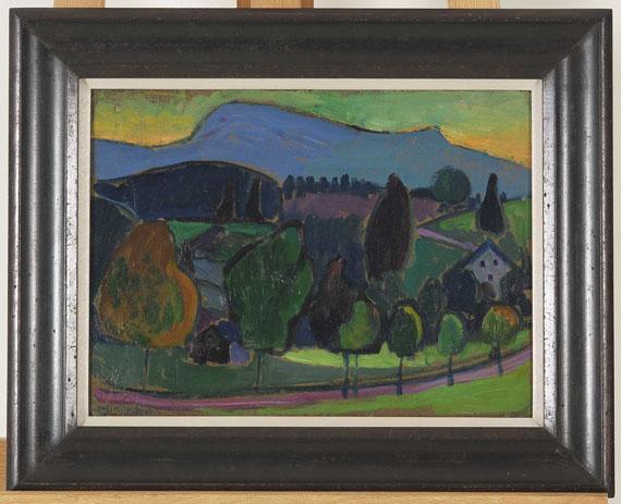 Gabriele Münter - Der blaue Berg - Rahmenbild