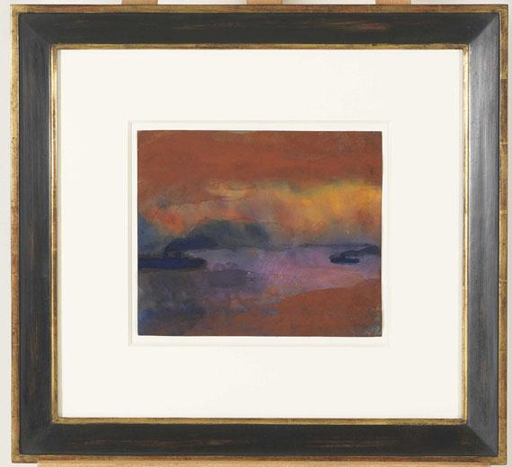 Emil Nolde - Dampfer auf See - Frame image