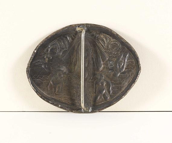 Ernst Ludwig Kirchner - Badende unter Baum. Ovale Brosche - Rückseite