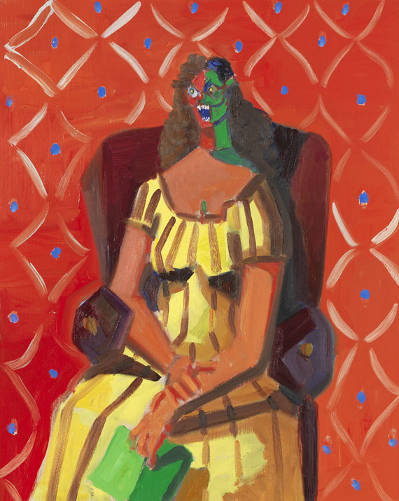 George Condo - Multicoloured woman
