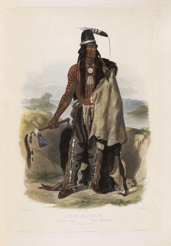 Prinz Maximilian zu Wied-Neuwied - Reise in das Innere Nord-America, 2 Textbde. und Atlas. Zus. 3 Bde. 1839-41. - Weitere Abbildung