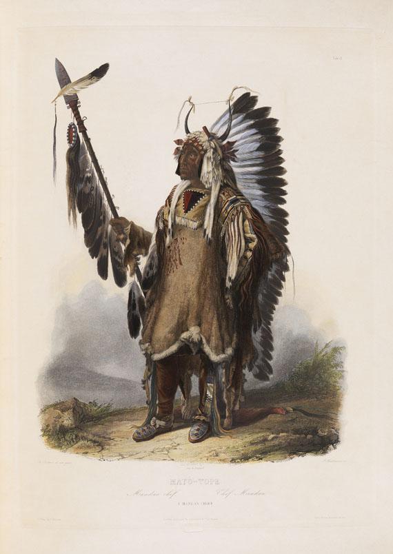 Prinz Maximilian zu Wied-Neuwied - Reise in das Innere Nord-America, 2 Textbde. und Atlas. Zus. 3 Bde. 1839-41.