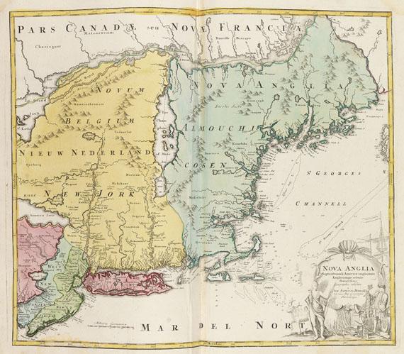 Johann Baptist Homann - Sammelatlas. Ca. 1725-80. -