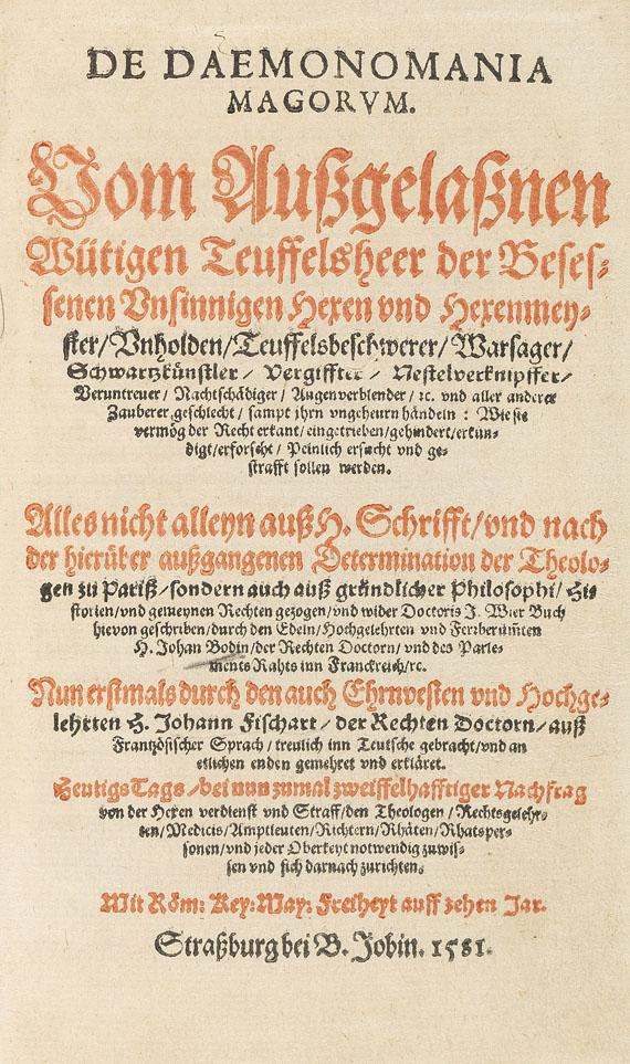Jean Bodin - De daemonomania magorum. 1581.