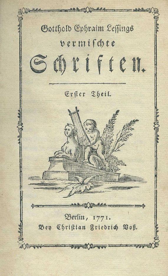 Gotthold Ephraim Lessing - Vermischte Schriften. 30 Bde. 1771- 1794